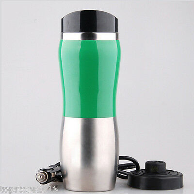 Portable Car 12V Stainless Steel Kettle Boil Cup Warm Hot Water 100° Heater NEW*