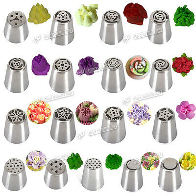17pcs Russian Stars Flower Icing Piping Nozzles Cake Decorating Tips Baking Tool