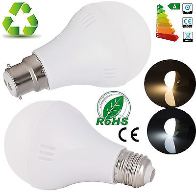 AU E27 B22 Bayonet SMD LED Light Bulb 3W 5W 7W 9W 12W Globe Lamps Day Warm White