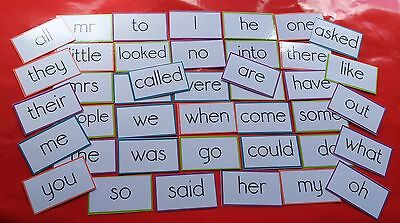 Tricky Words - Phase 2-5 - 41 Flash Cards - Reading/writing/spelling/recognition
