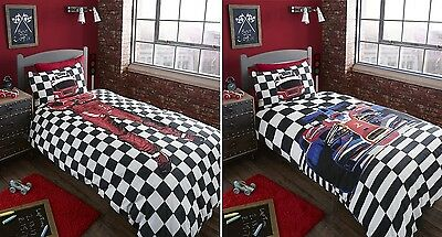 Catherine Lansfield F1 Car Racing Driver Double Duvet Quilt Cover Bedding Set