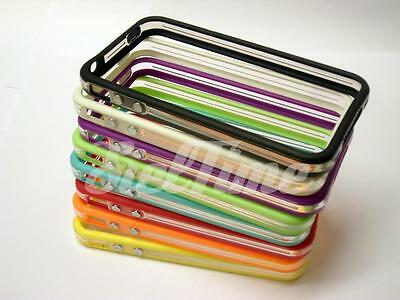Bumper Case Per Iphone 4 4S Cover Custodia Tpu Trasparente Slim