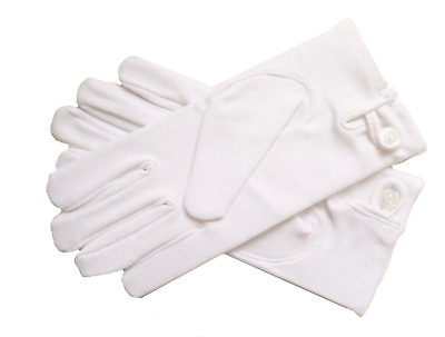 Masonic Freemasonry Men's (Large) Ceremonial White Gloves