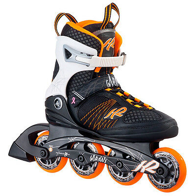 K2 Alexis 80 W Inline Skates Damen Inliner Black Orange 30A0104 Roller Skating