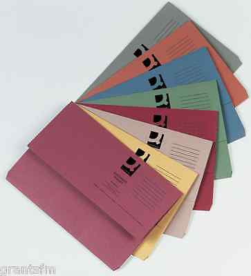 30 285gsm Premium Assorted Foolscap/ A4 Document Wallets Cardboard Files Folders