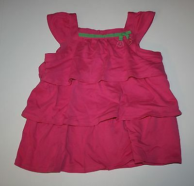 New Gymboree Pink Ruffle Tiered Tee Top Shirt Size 4T NWT Bright Tulip Line