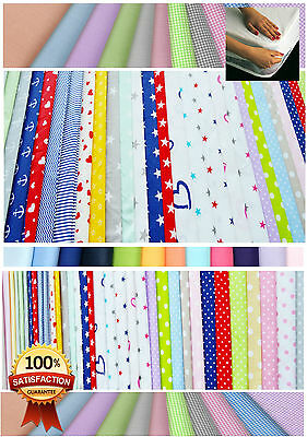 Fitted sheet for cot/cot bed 60x120, 70x140, 70x160, 80x160 100% cotton