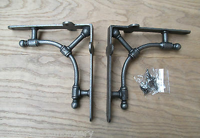 Pair of  ALBION VINTAGE OLD VICTORIAN SCROLL SHELF BRACKETS BRACKET CAST IRON