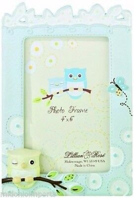 """Lillian Rose Picture Frame Blue Owl, 4"""" x 6"""""""