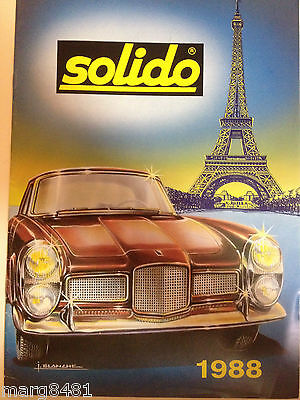 1988 Solido Catalog, printed in France