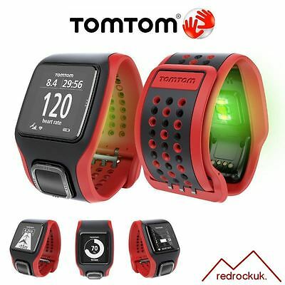 TomTom Multi Sport Cardio Triathlon GPS Watch & Training Partner - Red / Black