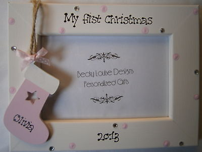 Babys First Christmas Personalised 6 x 4 Photo Frame
