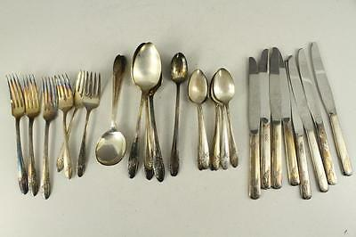 Vintage Silverplate Flatware Mixed 30 PC LOT Tudor Plate QUEEN BESS II Pattern