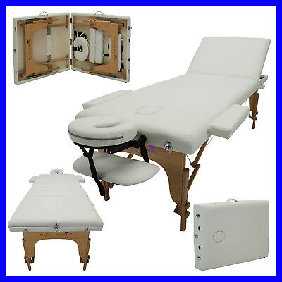 White Portable Massage Table Couch Beauty Therapy Bed Reiki Spa