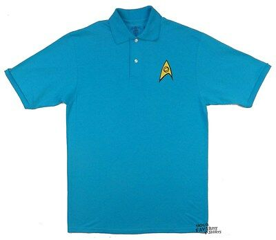 Star Trek Starfleet Science Symbol Adult Embroidered Polo Shirt