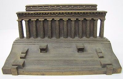 Antique Cast Iron 'Lincoln Memorial' Doorstop B&H Bradley & Hubbard bronze fnsh