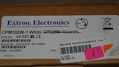 Extron CPM 102W Two-Gang MAAP Mounting Frame, White