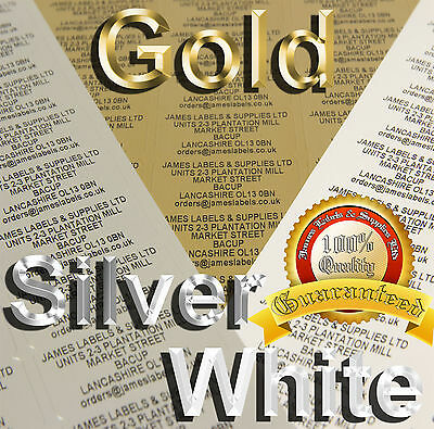 PERSONALISED RETURN ADDRESS - Gold, Silver or White (130,260 or 520 Labels)