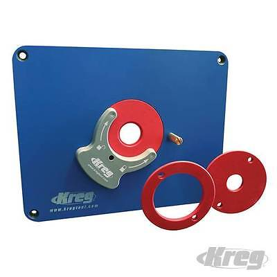 Kreg Insert Plate Tool for Router Table Undrilled with Level-Loc Reducing Rings