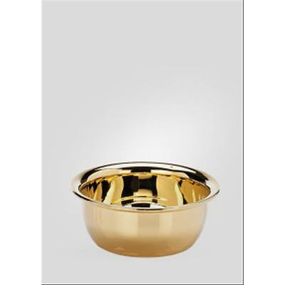Ciotola Da Barba Dorata Piccola Shaving Bowl Golden Small Il Ceppo Firenze