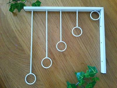 3 X Iron Wall Mounted Clothes Rack Hanger Display Fashion Shop 001 WHT