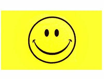 Large Smiley Face Flag Happy Festival Rave Hippy Party - 5ft x 3ft
