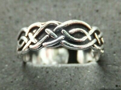 CELTIC KNOT TOE RING, Solid Sterling Silver *BN* good quality, sturdy toe ring