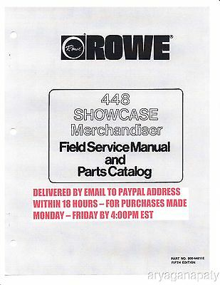 Rowe 448 Showcase Merchandiser Manual (53 Pages) Catalog PDF sent by email