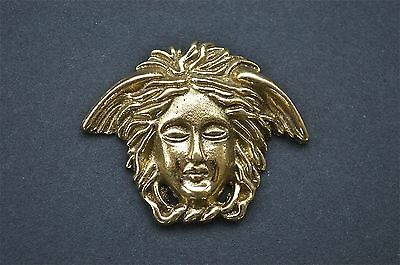 Art Nouveau angels head solid brass furniture mount ormalu H3