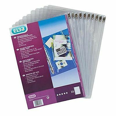New Elba Polyvision Spine Clear PVC Ring Binder Multipunched Zip Pockets