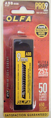 Olfa ABB-50B Pro 9MM Ultra-Sharp 50pk - REDUCE PRICE SPECIAL
