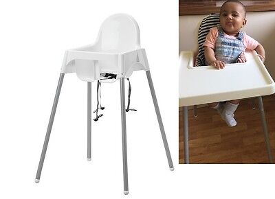 Baby Feeding Highchair With Safety Strap/cushion/tray Antilop High Chair Plastic