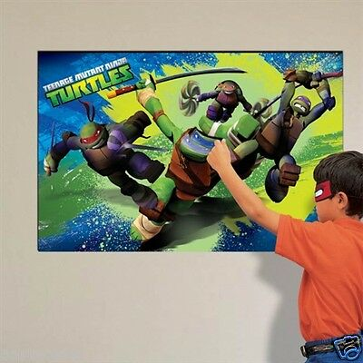 Teenage Mutant Ninja Turtles Boys Birthday Pin The Mask Party Game For 12 Guests