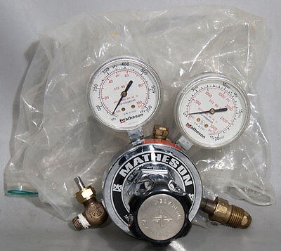 Matheson Tri-Gas 8-320 Brass Dual Stage Gas Regulator