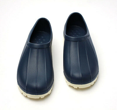 Chef Shoes Mens Non-Slip Clogs Water-proof Safety Hospital Kitchen Comfort Navy