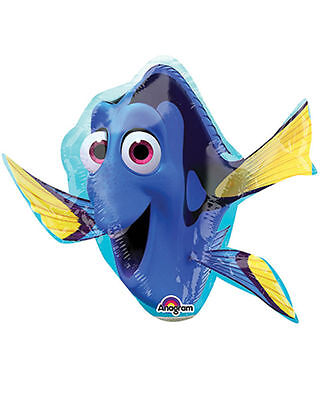 Finding Dory Shaped Foil Balloon Under The Sea Party Decoration Self Sealing