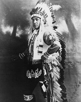 New 8x10 Native American Photo: Hiawatha #1 Chief, North American Indian - 1909