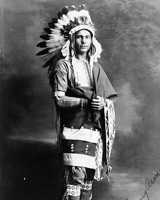 New 8x10 Native American Photo: Chief Strong Arm, North American Indian - 1909