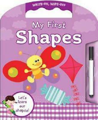 My First SHAPES Write On Wipe Off Book + Marker Pen