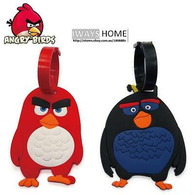Angry Birds KID Travel Luggage Tag School Bag Silicone  NEW MOVIE Terence Bomb