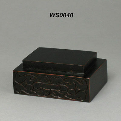 Hard Wood Stand For Figurine & Carving Display (WS0040)