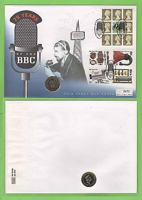 G.B. 1997 '75 Years of the BBC' £2 coin First Day Cover