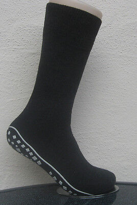 1 Pair Men's stopper socks with ABS Sole Nubby sole grey 39 to 42
