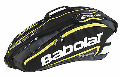 BABOLAT TEAM LINE 6 PACK - tennis racquet racket bag yellow - Authorized Dealer
