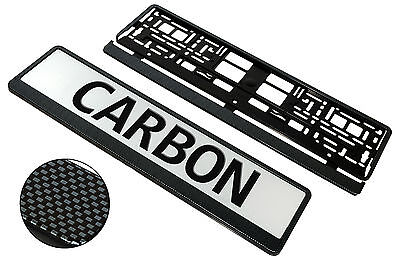 SuperB CARBON Surround - Pair of PLASTIC Number Plate Frame Holders License