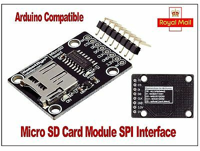 Micro SD Card Reader Module for Arduino, Raspberry Pi, PIC.  RobotDyn