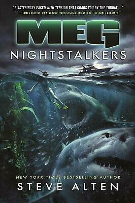 Meg: Nightstalkers by Steve Alten (English) Hardcover Book Free Shipping!