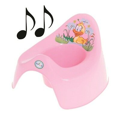 Easy Clean Musical Potty Training Toilet Kids Toddler Kid Animal Duck Gift -Pink