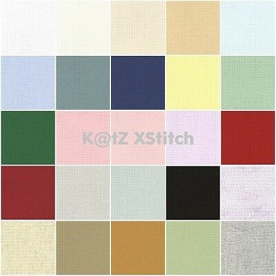 ZWEIGART AIDA CROSS STITCH FABRIC 14ct 50 x 55cm / 19½ x 21½in - Various Colours