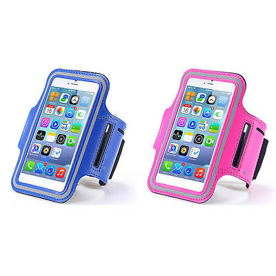 Lot 2 Brassards Sport Telephone Bleu + Rose Pour Apple Iphone 6 6S